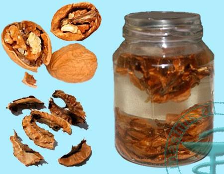 настойка ореха от паразитов